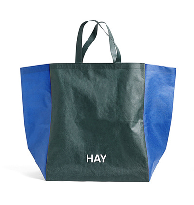 HAY Shopping Bag Two-Tone L Green 헤이 빅사이즈 쇼핑백