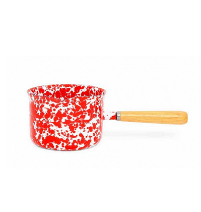 크로우캐년 밀크팬(소스서버) CrowCanyonHome Splatter Sauce Server Red Marble B grade