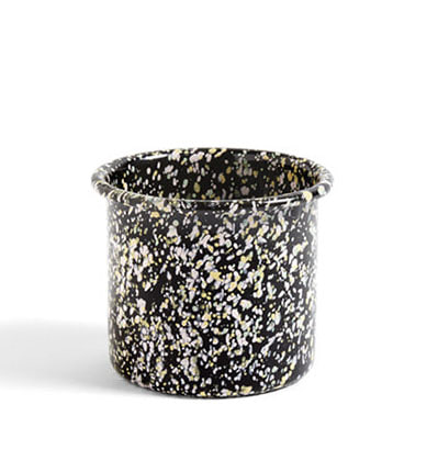 헤이 애나멜 허브팟 HAY Enamel Herb Pot Sprinkle black
