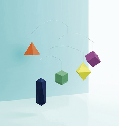 Polygon Paper Mobile Colorful 스몰굿띵스 폴리곤 페이퍼 모빌