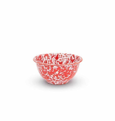 CrowCanyonHome Yogurt Bowl Red Marble