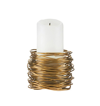 House doctor Tealight holder twister brass