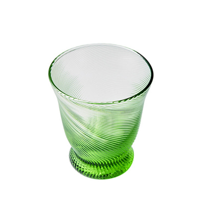 The Living factroy CA California Cup Glass Green