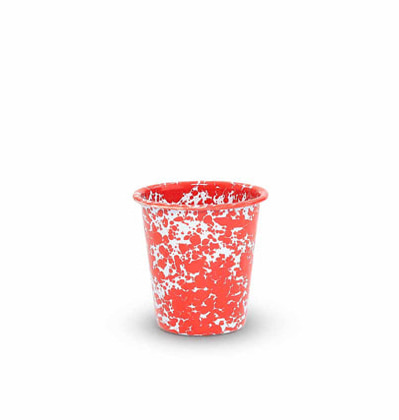 CrowCanyonHome Short Tumbler Red Marble