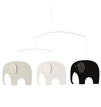 Flensted Mobiles Elephant Party Black/White 플렌스테드 모빌 코끼리