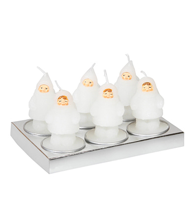 &KLEVERING Candle Snow doll 6 pack