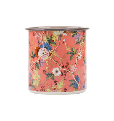 V&A William Morris Small Enamel Pot Kilburn Coral 와일드앤울프 윌리엄 모리스 화분