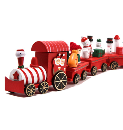 Christmas Train Wood Large