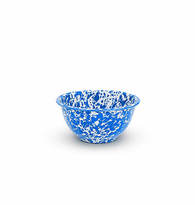 CrowCanyonHome Yogurt Bowl Blue Marble