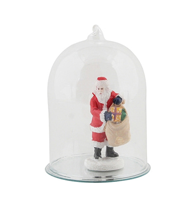 &Klevering Figure in glassbell Santa with presents