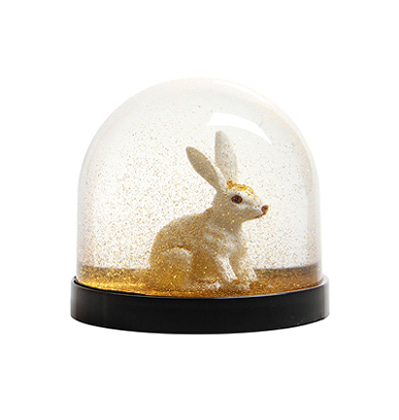 &Klevering Wonderball Rabbit gold glitter