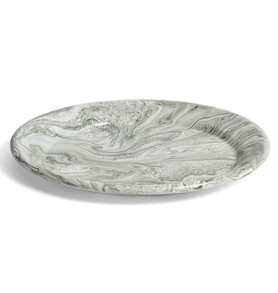 HAY Soft Ice Dinner Plate Green