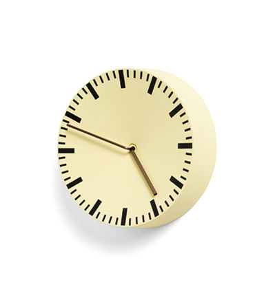 HAY Analog Wall Clock Light Yellow 헤이 아날로그 벽시계