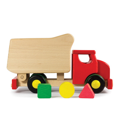 Bajo Tipper Shape Sorter Red