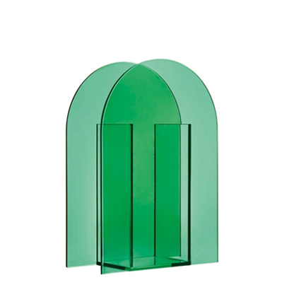 엔클레버링 유리 화병 &KLEVERING Vase arch dark green