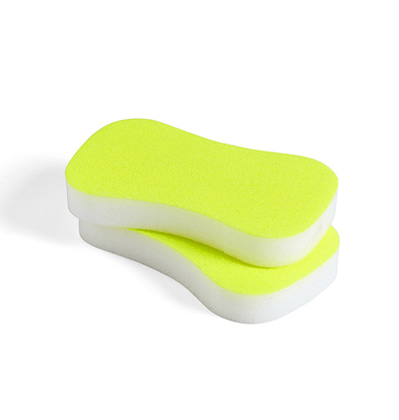 HAY Neon Sponge Set of 2 Fluorescent Yellow