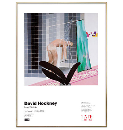 데이비드 호크니 그림액자 Seven Paintings Exhibition Poster in 1992 - David Hockney - Used Stuff