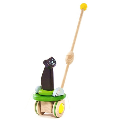 Bajo Push Toy Cat and Mice