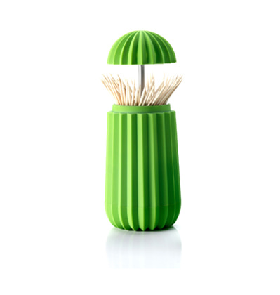 Essey Cactus Toothpick Holder, Green