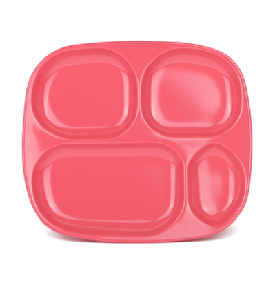 더리빙팩토리 글램핑크식판 The Living Factory Glam Pink Divided Tray Coral Pink