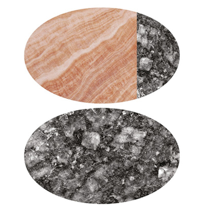 Eating Couture PP Table Mat Oval (Marble Pink&Black, 양면) 이팅쿠투어 테이블매트