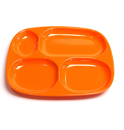 The Living Factroy Retro Divided Tray  Orange 더리빙팩토리 레트로식판 할인