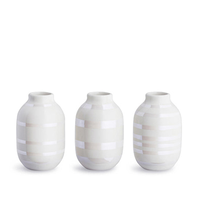 Kahler Omaggio Miniature Vase 3-pack Pearl 케흘러 오마지오 미니어처 베이스