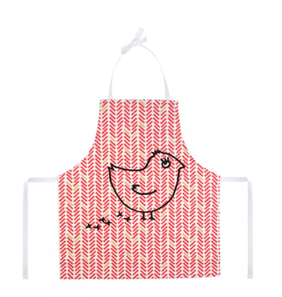 La cocotte Child's Apron Red Herringbone Coquito 라꼬꼬뜨 파리 어린이 앞치마