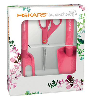 Fiskars Inspiration Scissor Start Set, Ruby 피스카스 정원용품 세트