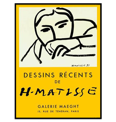 Dessins Recents, 1952 by Henri Matisse 앙리 마티스 그림액자
