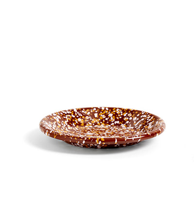 헤이 애나멜 스몰디쉬 브라운 HAY Enamel Dish Round Small Sprinkle Brown