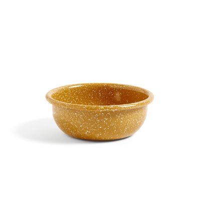 헤이 애나멜 보울 HAY Enamel Bowl Small Dust Mustard