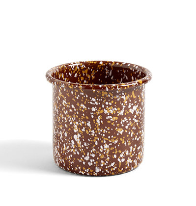 헤이 애나멜 허브팟 HAY Enamel Herb Pot Sprinkle brown