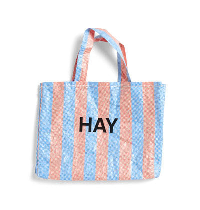 헤이 쇼퍼백 캔디 Hay Candy Stripe Shopper M  Blue and Orange