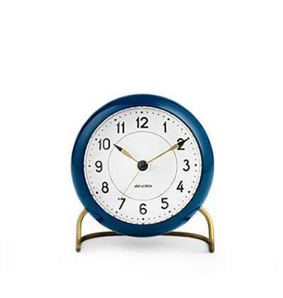 아르네 야콥센 스테이션 탁상시계 Arne Jacobsen Table Clock Station Petroleum Blue
