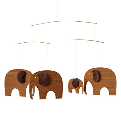 플렌스테드 모빌 코끼리 티크목 Flensted Mobiles Elephant Party luxury teak
