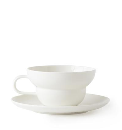 애크미 비비티컵 앤 소서 Acme Bibby Tea Cup & Saucer White  - Used Stuff -