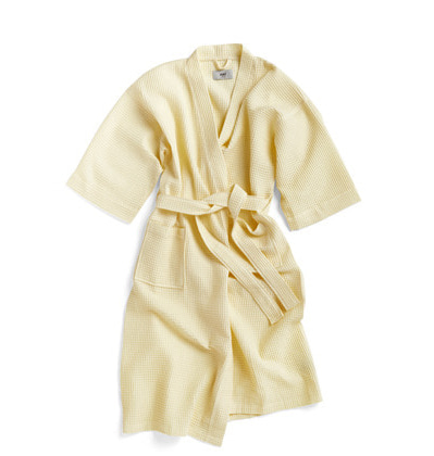헤이 와플 샤워가운 HAY Waffle Bathrobe Soft Yellow