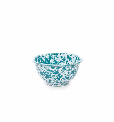 크로우캐년 홈 요거트 보울 CrowCanyon Home Yogurt Bowl Turquoise Marble  B grade