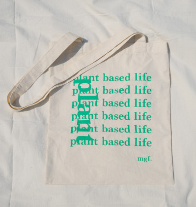 키미앤일이 코튼백 Plant base life KIMI12 Cotton Bag