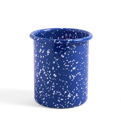헤이 애나멜 홀더 블루 HAY Enamel Utnesil Holder Speckle Blue