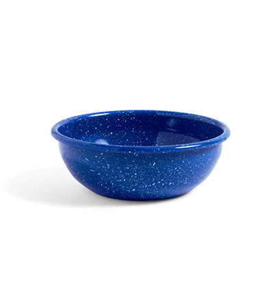 헤이 애나멜 보울 HAY Enamel Bowl Large Dust Blue