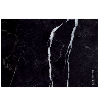 Marble Paper Placemat Square - Black 20장