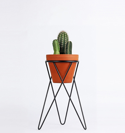 Plant Stand Small - Matt Black
