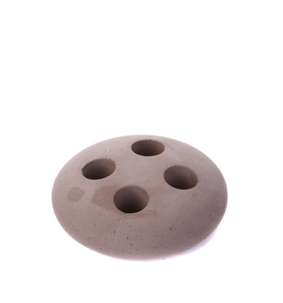 [Iris Hantverk] Tooth-brush stand concrete Brown