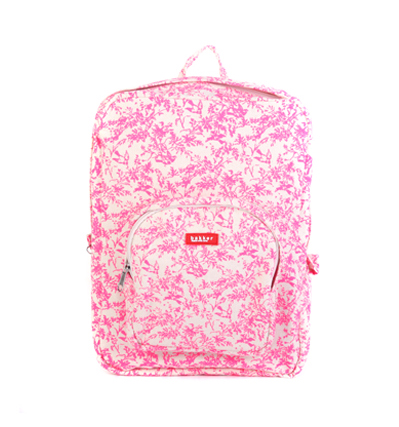 bakker Canvas Backpack jouy neon pink 베이커 캔버스백팩