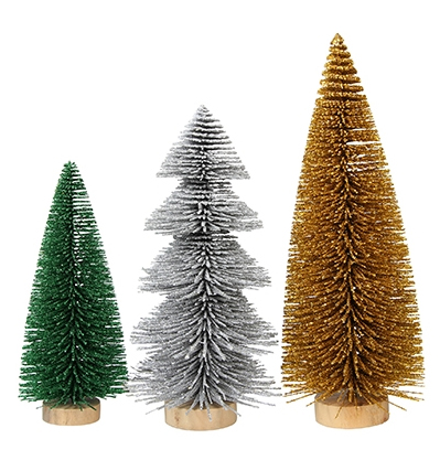[25%] Christmas tree in a box glitter (3pcs)