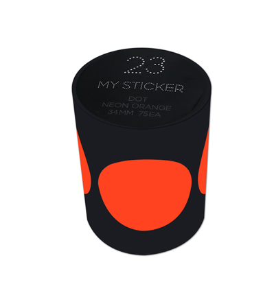 My Sticker Neon Orange 34mm