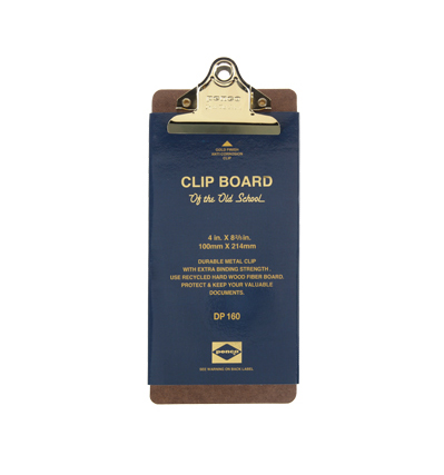 Penco Clip Board - Old school check Gold 펜코 클립보드