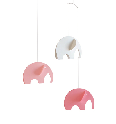 Flensted Mobiles Olephant Pink